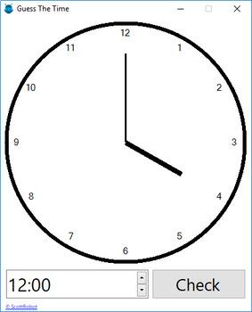 Analogue Clock Reading Quiz Game
