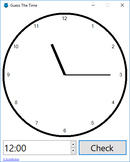 Analogue Clock Reading Quiz Game