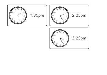 Analogue Clock Schedule