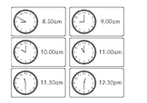 Analogue Clock Schedule
