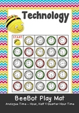 Analogue Time - Hour, Half Hour & Quarter Hour Time Maths BeeBot Play Mat Coding