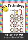 Analogue Time - Hour O'Clock Maths BeeBot Play Mat. Bee Bot Coding