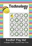 Analogue Time - Quarter Hour Time Maths BeeBot Play Mat. Bee Bot Coding