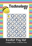 Analogue Time - Reading time to 5 minutes - Time Maths BeeBot Play Mat Coding