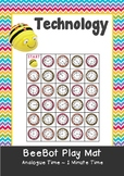 Analogue Time - Reading time to the 1 minute - Time Maths BeeBot Play Mat Coding