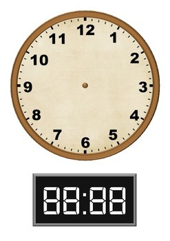 Analogue and Digital Clock Faces