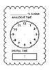 Analogue and Digital Clock template