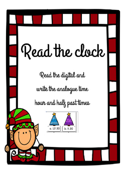Christmas Analogue and Digital Time