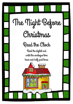 The Night Before Christmas Analogue and Digital Time