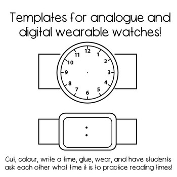 Analogue and Digital Time Task Cards Resources