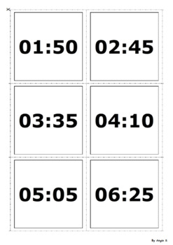 Analogue to Digital Clock Matching Activity