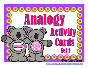 Analogy Activity Cards - Set 1