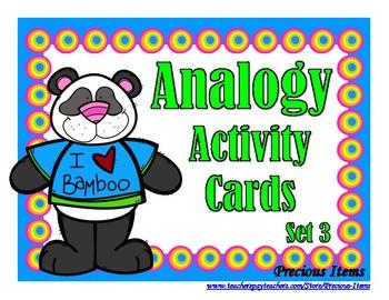 Analogy Activity Cards - Set 3