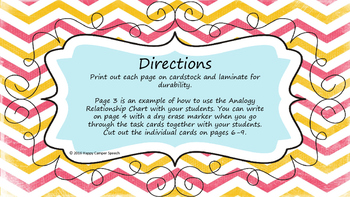Analogy Apple Task Cards