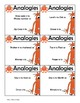 Analogy Center Activity, Complete the Analogy, Use Task Pages or Task Cards