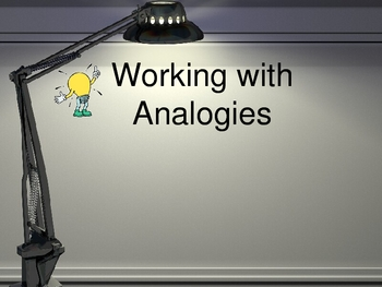 Analogy Instruction PowerPoint for Vocabulary Instruction
