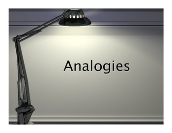 Analogy: Powerpoint Introduction Lesson