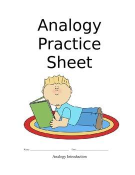 Analogy Practice Sheet