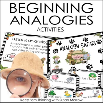 Analogies PowerPoint, Games, and Task Cards