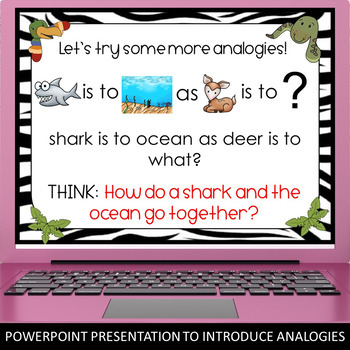 Analogies: PowerPoint, Games, and Analogies Task Cards