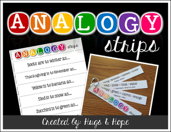Critical thinking analogies teaching resources teachers pay teachers analogy strips critical thinking analogy strips critical thinking fandeluxe Image collections