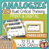 Analogy Task Cards 3 sets of analogies!