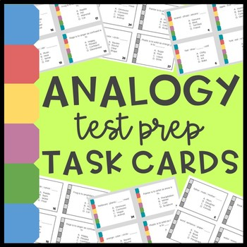 Analogy Task Cards (test prep!)