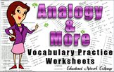 Analogy and More Vocabulary Practice Worksheets