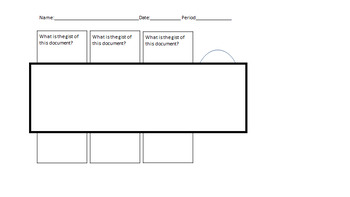 Analying Documents to Find Effect Graphic Organizer Handout
