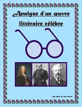 Analyse d'un oeuvre littéraire célèbre de la littérature française