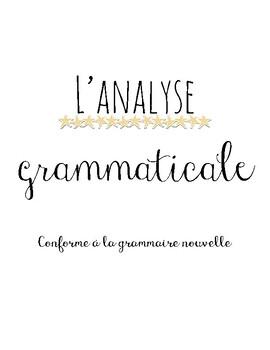 Analyse grammaticale (aide-mémoire)