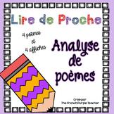 Analyser des poèmes