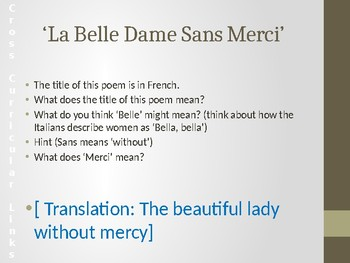 Analysing Poetry: 'La Belle Dame Sans Merci' by John Keats