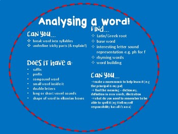 Analysing a Word for Upper Primary