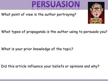 Analysing and Questioning Persuasion