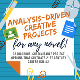 Analysis-Driven Creative Projects for Any Novel! Customizable!