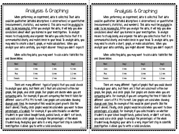 Graphing and Analysis Reading Comprehension Interactive Notebook
