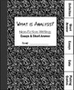 Analysis Booklets & Writing Mini-Unit: Use with ANY Essay!