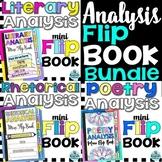 Analysis Mini Flip Book Bundle: Literary, Rhetorical, and Poetry
