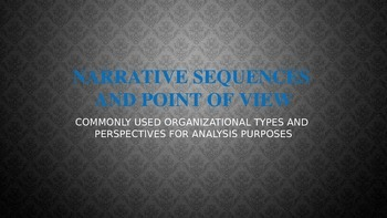 Analysis: Narrative Organization and Point of View