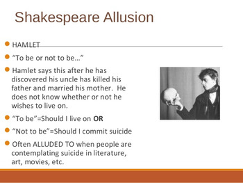 Analysis Of A Shakespearean Allusion / Footnote