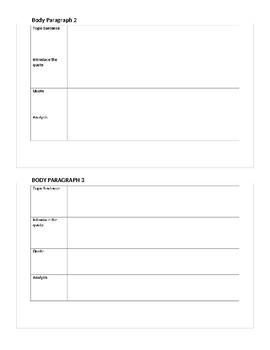 Analysis Paper Graphic Organizer using TIQA