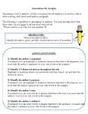 AP Language/Composition - Analysis Paragraph Template and