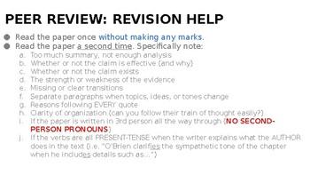 Analysis Peer Review PowerPoint