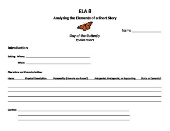 Analysis Sheet for Day of the Butterfly