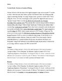 Analysis--Teacher Model, Revised Analytical Writing