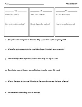 """Analysis Worksheet for """"The Interlopers"""""""