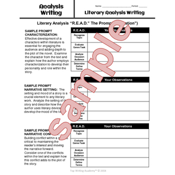 Analysis Writing Bundle: Literary Analysis & Rhetorical Analysis