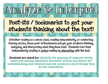 Analysis and Interpret Post-it/Bookmarks