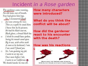 Analysis and Review of Incident in a Rose Garden by Donald Justice